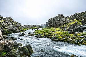 Icelandic summer brook