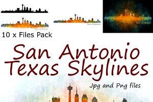 10xFiles Pack. San Antonio Skylines