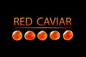 Red Caviar Vector set