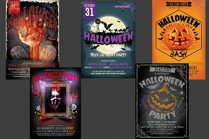 Halloween Party Flyer Bundle