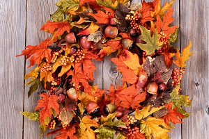 Wreath for the Autumn Holidays