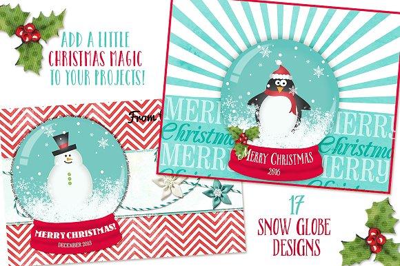 Snow Globe Elements + Bonus! - Illustrations