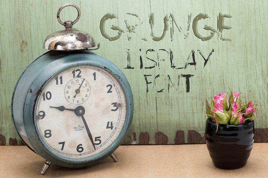 Grunge Display Font
