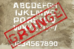 Grunge Display Formal Font
