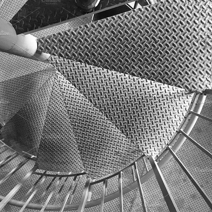 Spiral Stair Detail Industrial Photos Creative Market