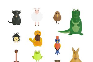 Australia wild animals vector