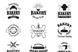 Bakery badges and logo vector