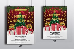 Christmas Party Flyer Template-V388