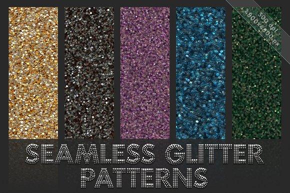 Glitter patterns. Seamless textures - Patterns