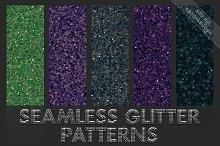 Glitter patterns. Seamless textures