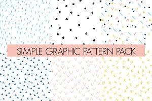 simple graphic repeat pattern pack