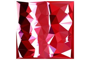 Barn Red Abstract Low Polygon