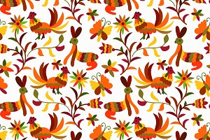 Otomi styled seamless patterns