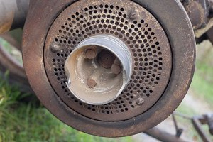 Old motor pulley