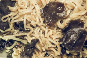 Noodles pasta vintage desaturated