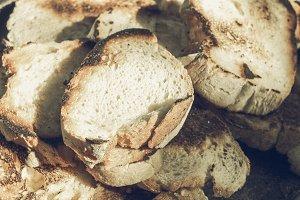 Bread slice vintage desaturated