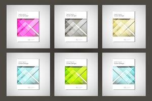 Set abstract flyers brochure
