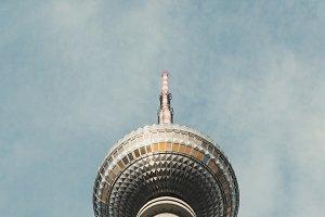 "Television tower (""Fernsehturm Berlin"") near Alexanderplatz in Berlin, Germany."
