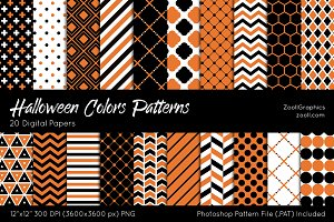 Halloween Colors Digital Papers
