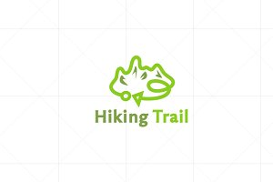 Hiking - Trekking Logo