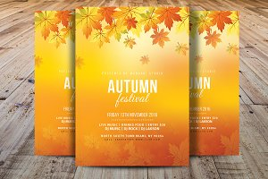Autumn Festival Flyer Template V4