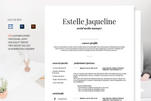 Elegant Resume Template Cover Letter