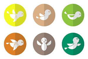 Vector group of bird.