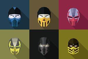 SuperHeroes Masks Flat (Set 25)
