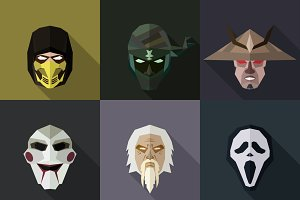 SuperHeroes Masks Flat (Set 26)