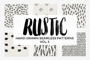 Rustic Hand Drawn Patterns Vol 3