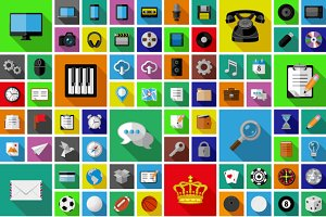 Over 100 universal icons