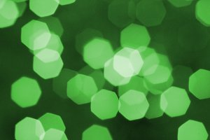 green candle ligths