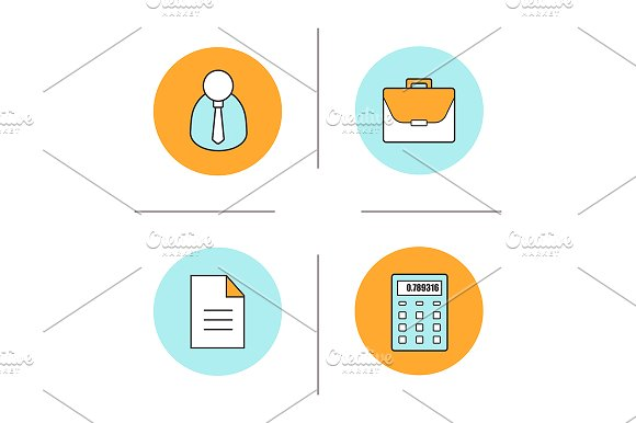 Business. 4 icons. Vector - Icons