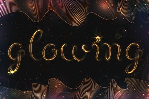 8 GLOWING METAL FONTS / 8 BRUSHES