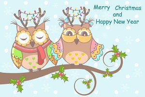 Funny, cute owls Christmas!