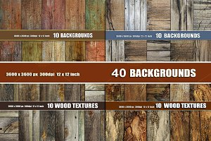 40 OLD WOOD TEXTURE BACKGROUNDS