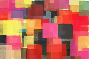Colorful Squares Paint Pattern
