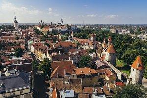 Tallinn aerial view