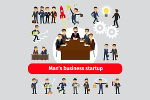 Startup concept with business people