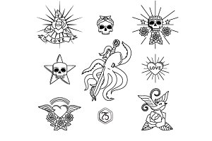 Tattoo vector elements