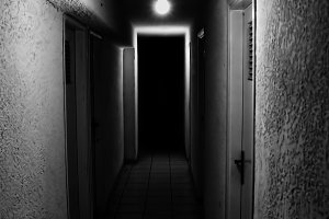 Dim Light Dark Corridor