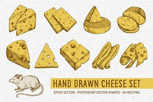 Hand Drawn Cheese Set