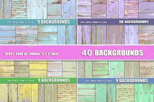 40 painted wood background textures