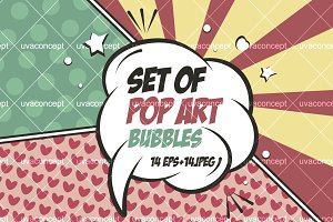 Set of pop art bubbles