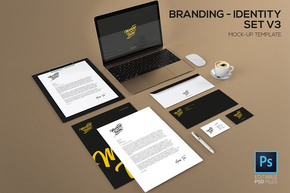 Download Branding / identity set V3 Mock-up