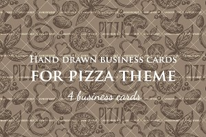 Business cards for pizza theme