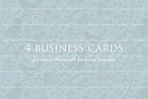 Business cards with birds