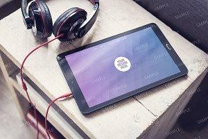 Tablet pc mockup smart object