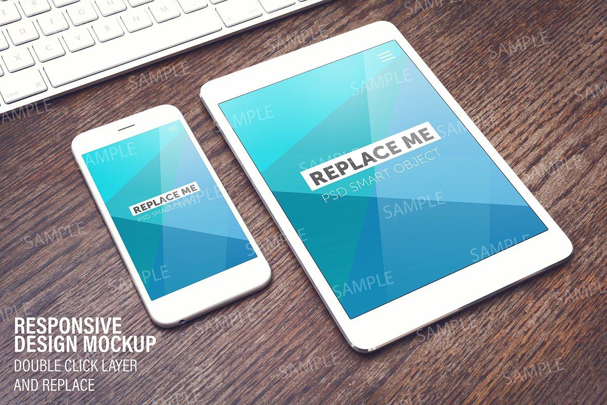 Smart Layer Ipad Iphone Mockup Creative Mobile Web Mockups