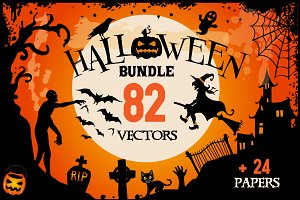 Halloween Clipart bundle 82 elements